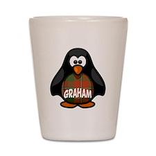Graham Tartan Penguin Shot Glass