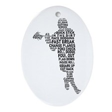 Lacrosse Lingo Ornament (Oval)