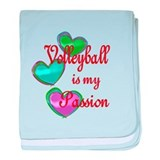 Volleyball Passion baby blanket