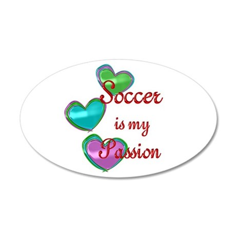 Soccer Passion 35x21 Oval Wall Decal