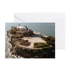 Aerial Alcatraz SF Greeting Cards (10 Pk)