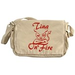 Tina On Fire Messenger Bag