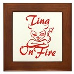 Tina On Fire Framed Tile