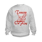 Tracey On Fire Kids Sweatshirt