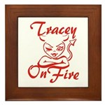 Tracey On Fire Framed Tile