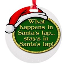 Santa's Lap Ornament