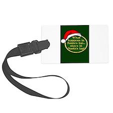 Santa's Lap Luggage Tag