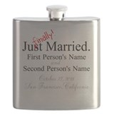 Personalized gay marriage Flasks