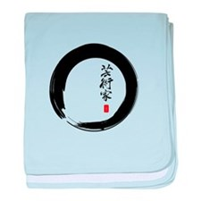 """Enso Open Circle with """"Artist"""" Calligraphy baby bl"""