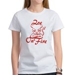 Zoe On Fire Women's T-Shirt