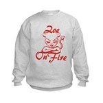 Zoe On Fire Kids Sweatshirt