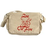 Zoe On Fire Messenger Bag