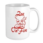 Zoe On Fire Large Mug