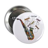 Wild Saxophone 2.25&quot; Button