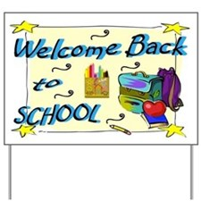 Back to School Backpack Yard Sign