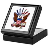 USN Eagle Flag Bevel Keepsake Box