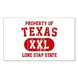 Property of Texas, Lone Star State Decal