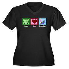 Peace Love Psychology Women's Plus Size V-Neck Dar