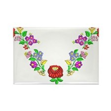 Hungarian folk motif Rectangle Magnet