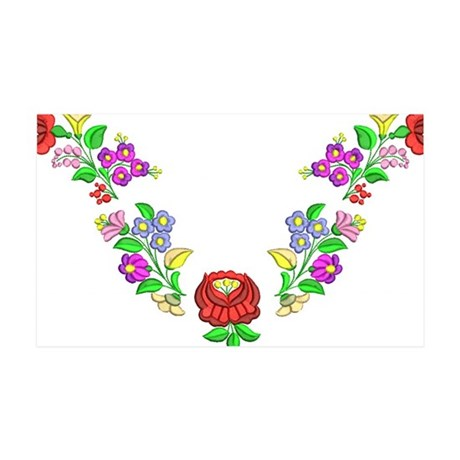 Hungarian folk motif 35x21 Wall Decal