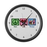Peace Love Therapy Large Wall Clock