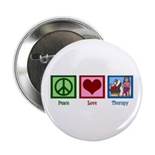 "Peace Love Therapy 2.25"" Button"
