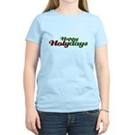 Happy Holidays Religious Christmas Women's Light T