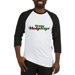 Happy Holidays Religious Christmas Baseball Jersey