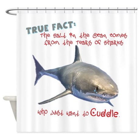 Animals gifts gt animals bathroom d 233 cor gt shark tears shower curtain