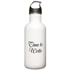 Time to Write Water Bottle
