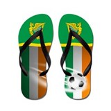 Irish Erie Ireland Football Soccer Flip Flops