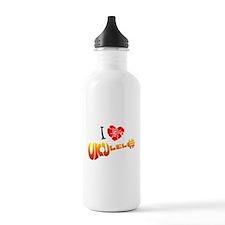 I Love Ukulele Water Bottle