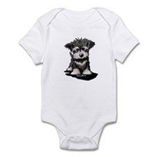 KiniArt Schnauzer Pup Infant Bodysuit