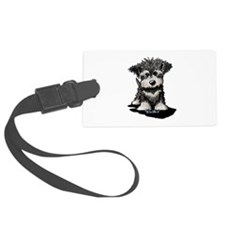Schnauzer Puppy Luggage Tag
