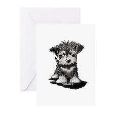 KiniArt Schnauzer Pup Greeting Cards (Pk of 20)