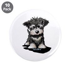 "Schnauzer Puppy 3.5"" Button (10 pack)"
