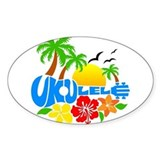 Ukulele Island Logo Decal