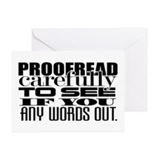 Proofread Greeting Cards (Pk of 20)