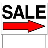 Sale Right Yard Sign