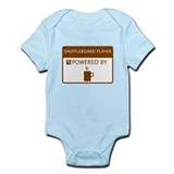Shuffleboard Player Powered by Coffee Infant Bodys