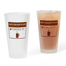 Shuffleboard Player Powered by Coffee Drinking Gla