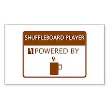 Shuffleboard Player Powered by Coffee Decal