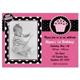 Pink Cupcake Birthday Invitation Invitations