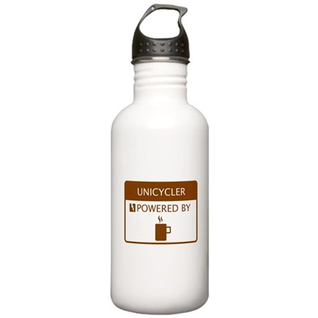 Unicycler Powered by Coffee Stainless Water Bottle