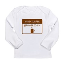 Wind Surfer Powered by Coffee Long Sleeve Infant T