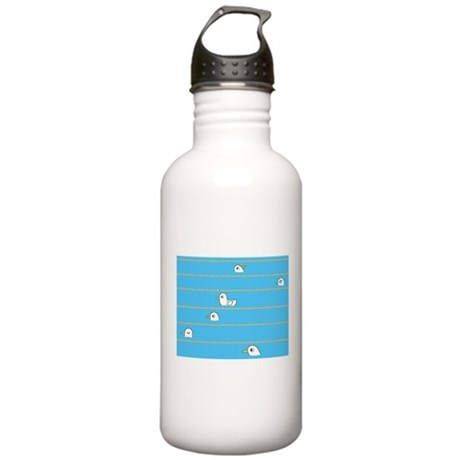 Swimming Contest Stainless Water Bottle 1.0L