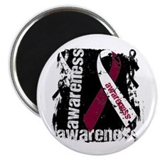 "Grunge Throat Cancer 2.25"" Magnet (100 pack)"