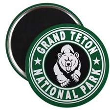 Grand Teton Green Circle Magnet