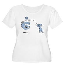 Bop! Women's Plus Size Scoop Neck T-Shirt