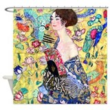 Klimt - Lady w/Fan Shower Curtain